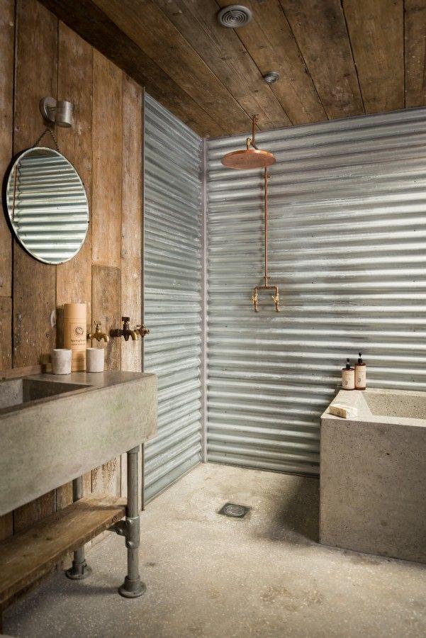 Ванная комната в стиле рустика