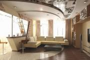 Фото 11 Двухуровневые натяжные потолки для зала (47 фото): материалы, форма, цвет