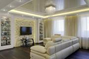 Фото 12 Двухуровневые натяжные потолки для зала (47 фото): материалы, форма, цвет