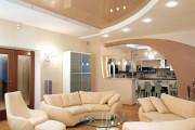 Фото 16 Двухуровневые натяжные потолки для зала (47 фото): материалы, форма, цвет