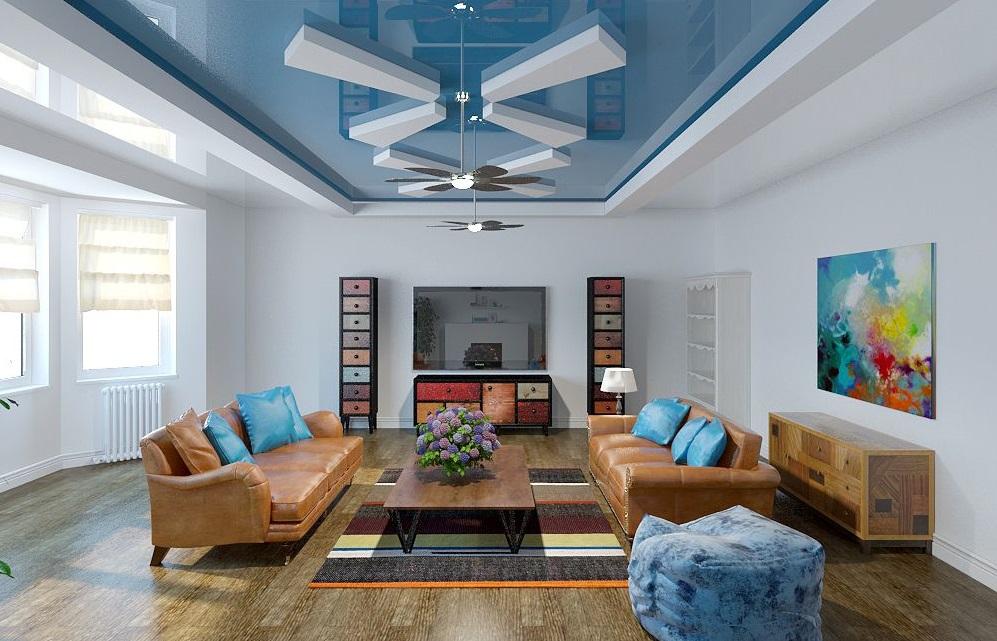 Навесной потолок из гипсокартона своими руками фото зала фото 231