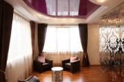 Фото 20 Двухуровневые натяжные потолки для зала (47 фото): материалы, форма, цвет