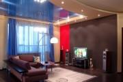 Фото 23 Двухуровневые натяжные потолки для зала (47 фото): материалы, форма, цвет