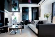 Фото 24 Двухуровневые натяжные потолки для зала (47 фото): материалы, форма, цвет