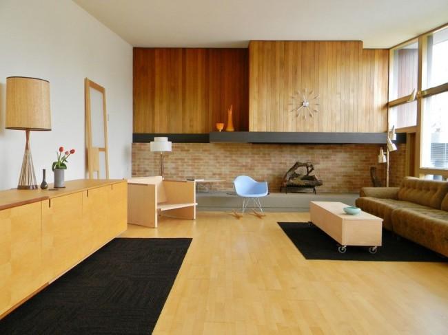Клинкерная плитка с имитацией кирпича отлично впишется и в интерьер стиля модерн