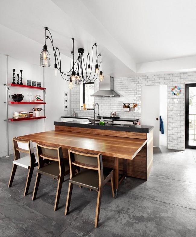 Прекрасная кухня в стиле лофт