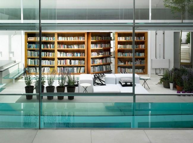 Продуманный эргономичный дизайн домашней библиотеки