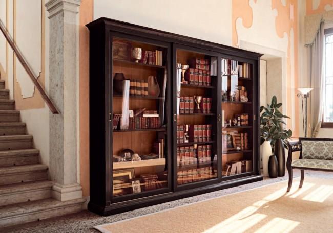 Книжный шкаф-купе является не только элегантным элементом декора в вашем доме, но и гарантирует высокую сохранность книг