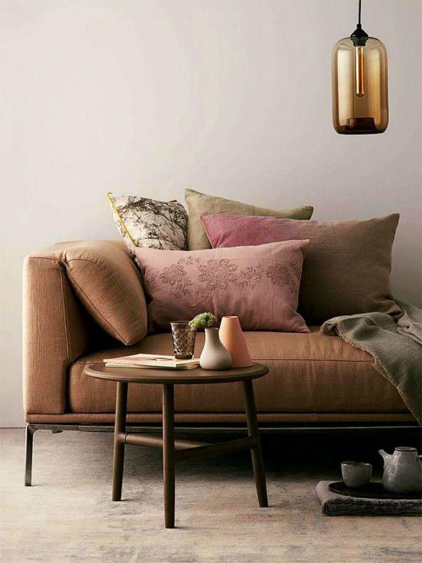 Очень нежное и изысканное сочетание коричневого с розовым