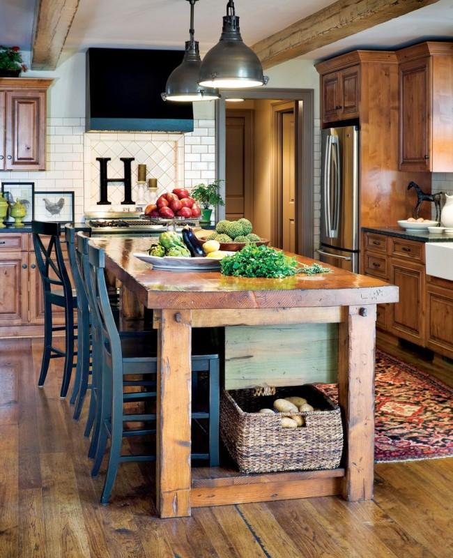 Кухня кантри - это тепло и уют натуральных материалов