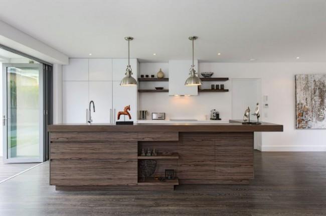 Гармоничное сочетание цвета кухонной мебели и ламината