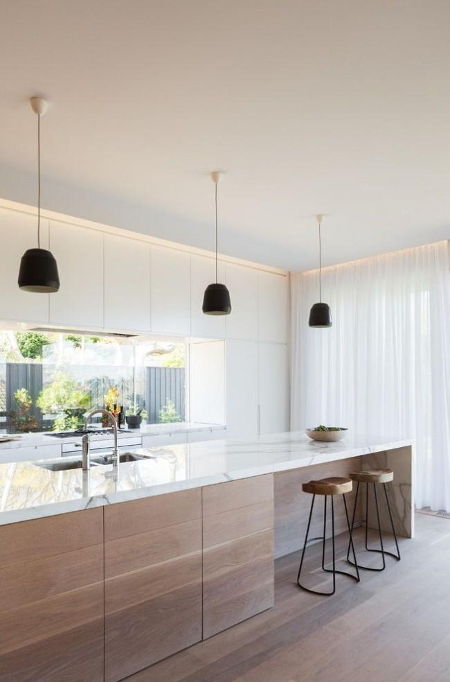 Красивый минимализм на современной кухне