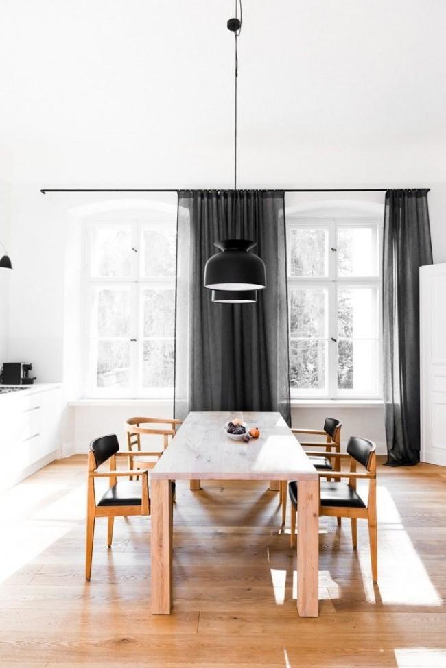 Не бойтесь черного цвета на кухне, он выглядит очень оригинально