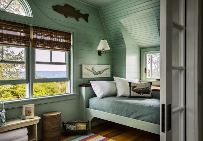 Спальня 12 кв. м в морском стиле
