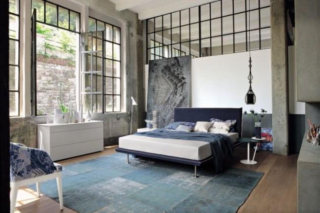 Большие окна и стеклянные перегородки увеличат вашу комнату