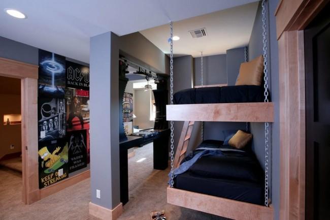 Компактное и непривычное размещение спального места двух сыновей