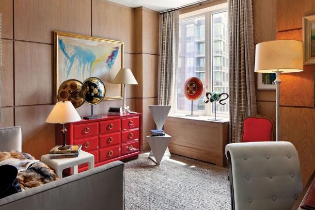 Плиточные панели в оформлении гостиной