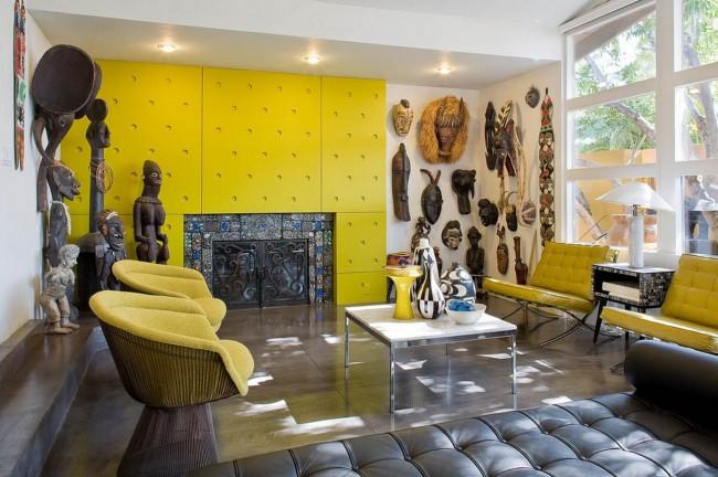 Стеновые панели в интерьере стиля фьюжн