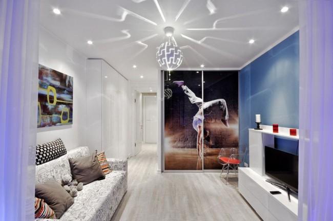 Небольшую комнату зрительно увеличит белый цвет