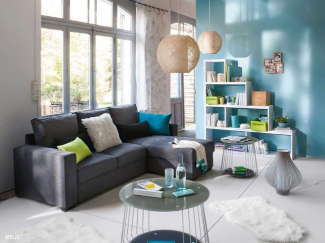 Бирюза придаст комнате свежести и уюта