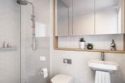 Фото 7 Интерьер ванной комнаты совмещенной с туалетом (62 фото): грамотный подход и тонкости декорирования