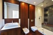 Фото 4 Интерьер ванной комнаты совмещенной с туалетом (62 фото): грамотный подход и тонкости декорирования