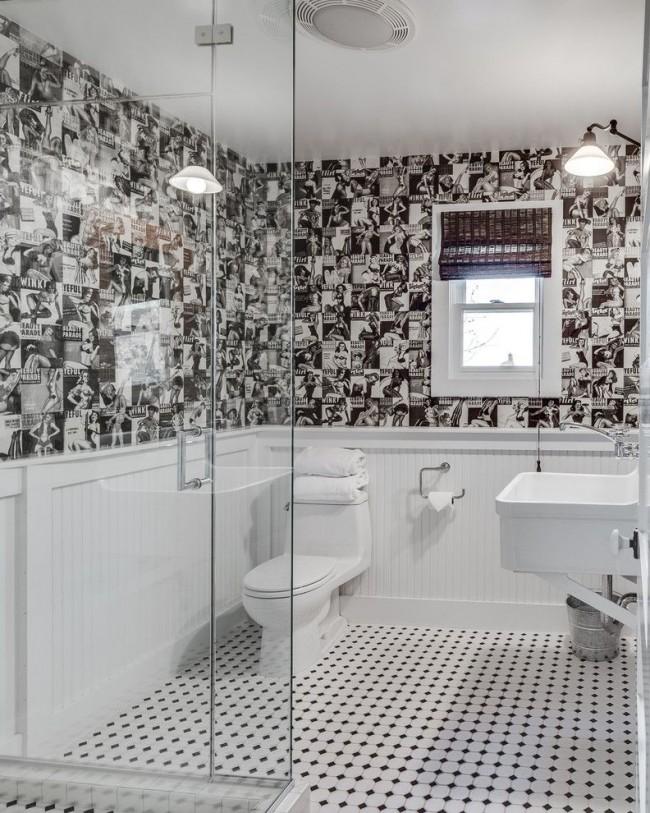 Ванная комната с натяжным потолком