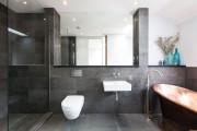 Фото 15 Интерьер ванной комнаты совмещенной с туалетом (62 фото): грамотный подход и тонкости декорирования