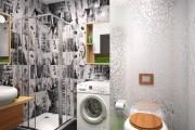 Фото 3 Интерьер ванной комнаты совмещенной с туалетом (62 фото): грамотный подход и тонкости декорирования