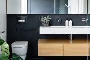 Фото 18 Интерьер ванной комнаты совмещенной с туалетом (62 фото): грамотный подход и тонкости декорирования