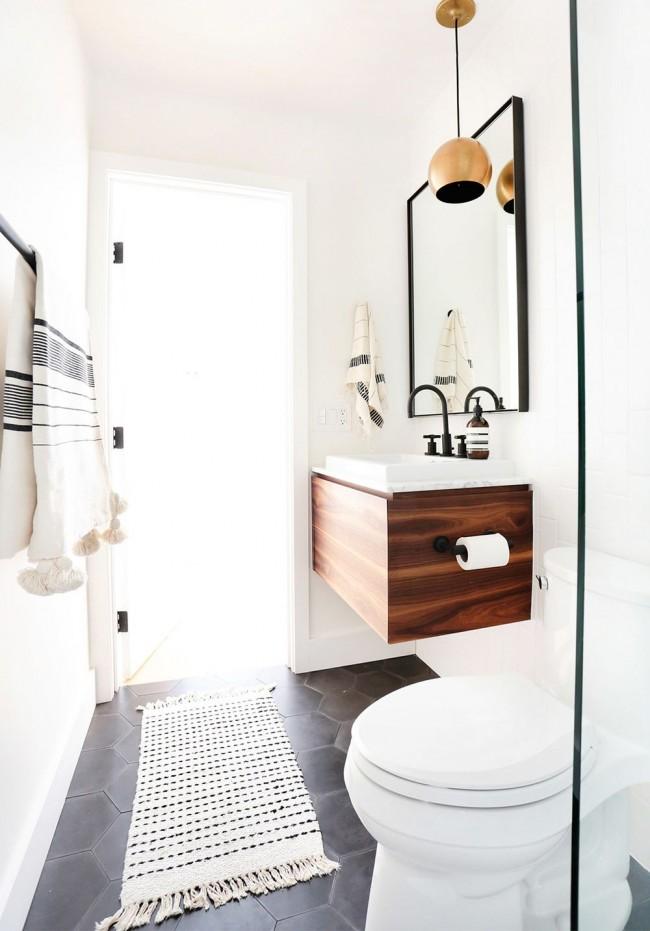 Совмещенная ванная в скандинавском стиле