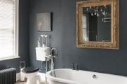 Фото 16 Черно-белая ванная комната (56 фото): шик и оригинальность в вашем доме