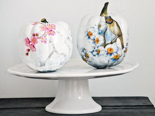 Необычные сезонные и праздничные декорации в технике декупаж. При правильном подборе цветов и сюжета можно создавать и остромодно выглядящие предметы декора