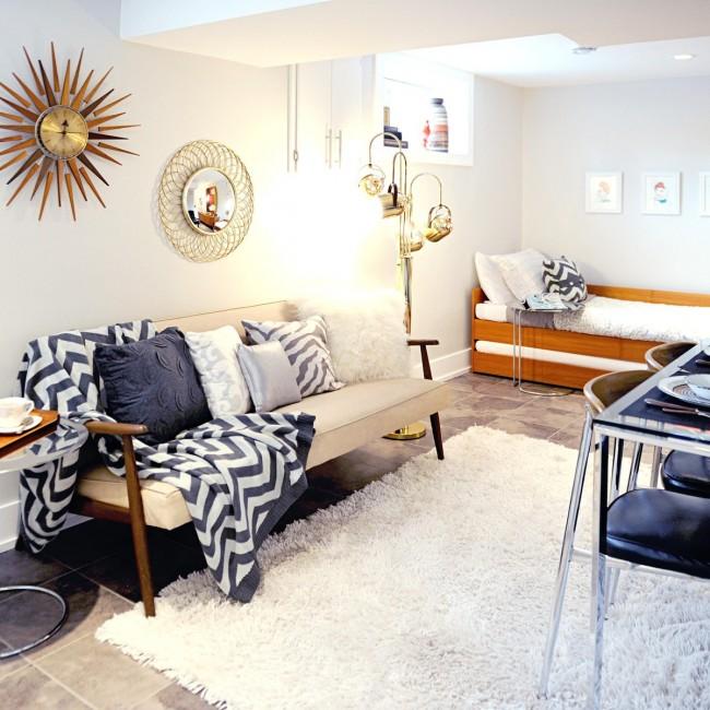Удачное зонирование комнаты - частая задача для владельцев малогабаритных квартир