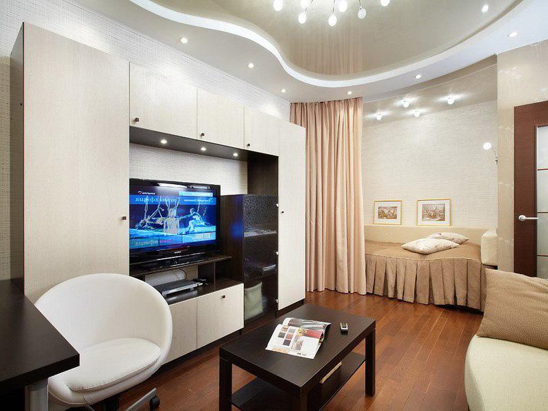 Фото интерьер комнаты с нишей