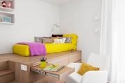 Фото 3 Гостиная и спальня в одной комнате: 120+ примеров комфортного зонирования