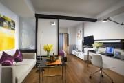 Фото 24 Гостиная и спальня в одной комнате: 120+ примеров комфортного зонирования