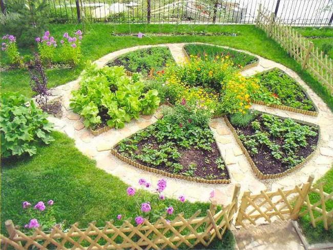 Грядки на даче: высокие, умные, ленивые. Французский огород - симметричные грядки правильной формы. В центре композиции - либо дополнительная грядка, либо садовый декор или скульптура