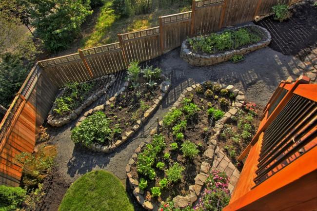 Грядки на даче: высокие, умные, ленивые. Каменные ограды - простой способ соорудить основу для грядки на неровной местности