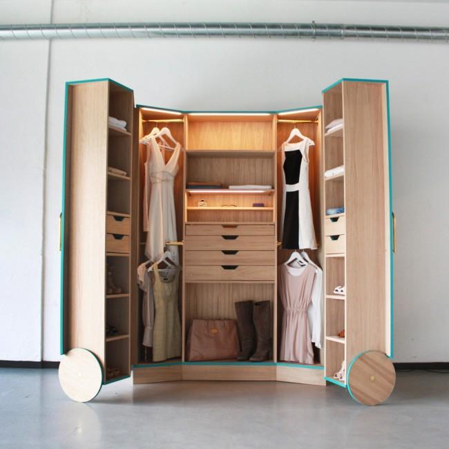 В два раза более вместительный и удобный шкаф-раздвижная гардеробная