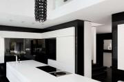 Фото 1 Черно-белая кухня: 40+ фото как оформить минималистичный интерьер