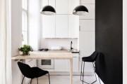 Фото 8 Черно-белая кухня: 40+ фото как оформить минималистичный интерьер