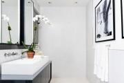 Фото 24 Черно-белая ванная комната (56 фото): шик и оригинальность в вашем доме