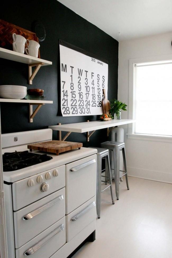 Небольшой подвесной столик - стильно и удобно
