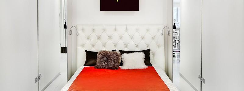 55+ идей узкой спальни: как сделать ремонт правильно
