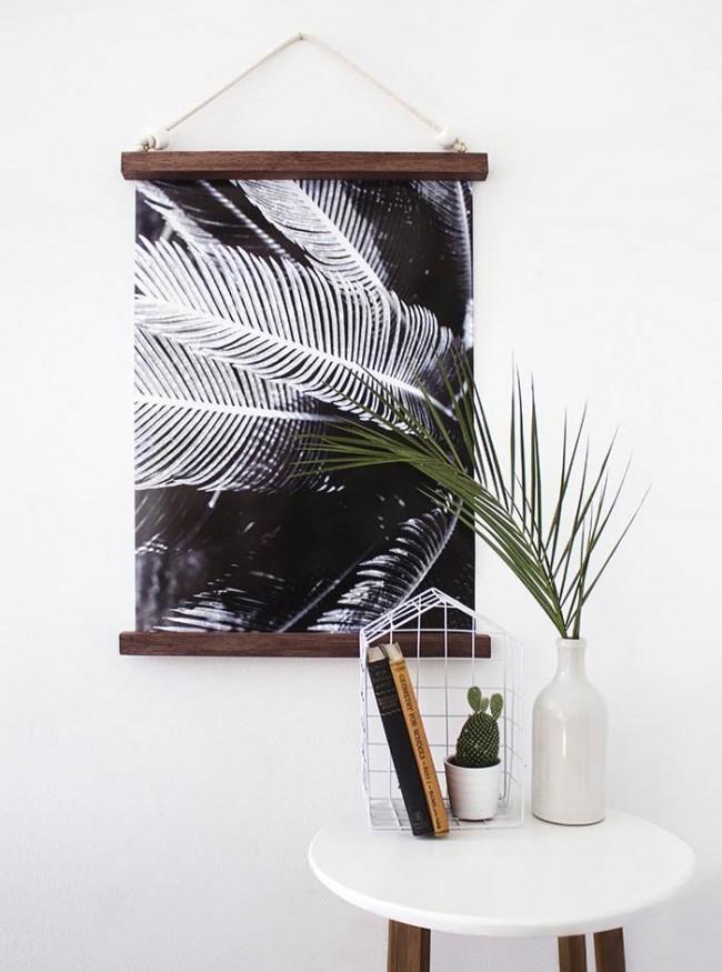 Картину можно сделать из распечатанного макро-фото
