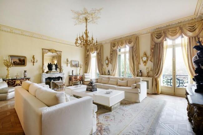 Гостиная в стиле ампир в современном интерьере