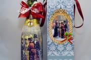 Фото 21 45+ идей декупажа бутылок к Новому году