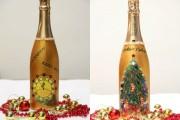 Фото 22 45+ идей декупажа бутылок к Новому году
