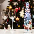 45+ идей декупажа бутылок к Новому году фото